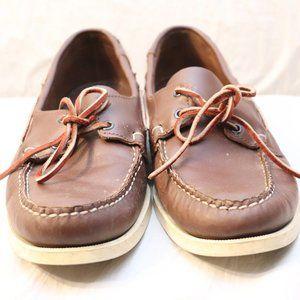 Sebago Men's Docksides Brown Elk Boat Shoe Sz 11.5